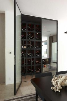 Wine cellar at home! Caves, Home Wine Cellars, Wine Cellar Design, Muebles Living, Wine Wall, Wine Cabinets, Wine Fridge, Italian Wine, In Vino Veritas