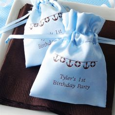 Him Personalized Small Satin Favor Bag