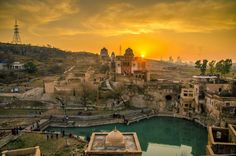 Katasraj Temple in Pakistan  In the Chakwal district of Punjab in Pakistan is the Katasraj Temple dedicated to Lord Shiva. Legend has it that the temple dates back to the time of the Mahabharata. It goes that the Pandavas spent a portion of their exile here and Lord Krishna himself is said to have built the Shivling at this temple.