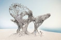 bartlett school studio explores structural potential of sand PVA pipes - designboom | architecture