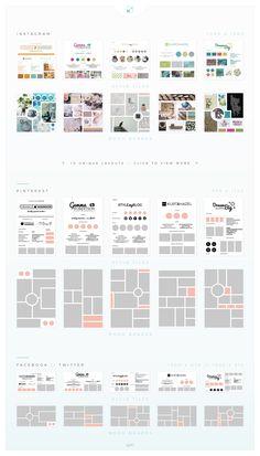 Mood Board / Style Tile Pack by AM Studio on market Ecommerce Webdesign, Webdesign Layouts, Web Design, Media Design, Layout Design, Mise En Page Portfolio, Portfolio Design, Fashion Portfolio, Design Websites