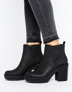 ASOS Enchanter Chunky Ankle Boots