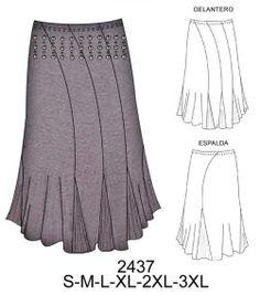Faldas Sewing Hacks, Sewing Tutorials, Sewing Patterns, Clothing Sketches, Princess Cut, Refashion, Dress Skirt, Cool Stuff, Knitting