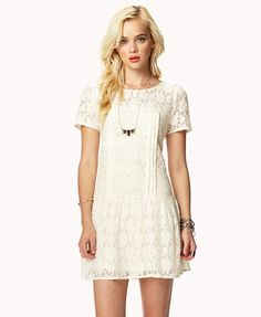 Drop Waist Lace Dress | FOREVER21 - 2042676945