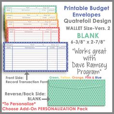 How To Use A Printable Cash Envelope System  Envelope Budgeting