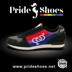 Bi Pride Shoes.  Made in Spain LGBT Bisexual trainers