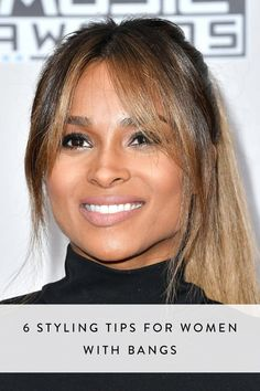 Sometimes your bangs are on point. Other times, they?re just a nuisance. Here, six tips to making sure your bangs behave at all times. Fringe Hairstyles, Office Hairstyles, Anime Hairstyles, Stylish Hairstyles, Hairstyles Videos, School Hairstyles, Easy Hairstyles, Medium Hair Styles, Curly Hair Styles