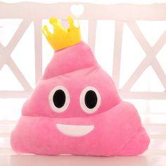 BH Toys Princess Poop Emoji Plush Pillow