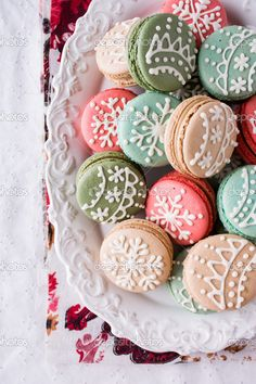 Download - Christmas macarons — Stock Image #16826493