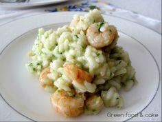 Risotto con zucchine e gamberi http://blog.giallozafferano.it/greenfoodandcake/risotto-zucchine-gamberi/
