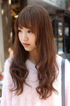 Cute Korean Hairstyle For Long Hair Korean Hair Hair Styles