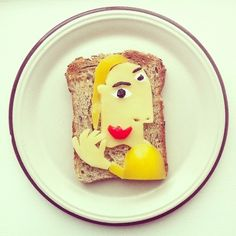Famous Paintings Recreated with Food... as in Sandwiches... : Picasso.jpg