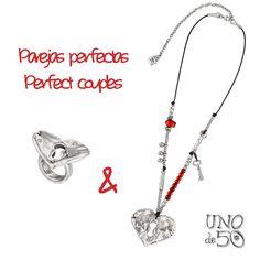 El collar 'Al rojo vivo' y el anillo 'Mira Mira', nuestra pareja perfecta para hoy. Nos encantan los   'Al rojo vivo' neckclace and 'Mira Mira' ring, our perfect couple for today. We love