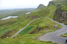 Zigzagging Road, Highlands of Scotland.