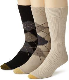 Gold Toe Men's Argyle Texture Sock, 3 Pack,Black/Light Dust,10-13 Gold Toe http://www.amazon.com/dp/B00130U34E/ref=cm_sw_r_pi_dp_hiVQvb1M9E0GC