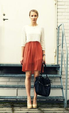 Petra Karlsson Pleated skirt, crochet top