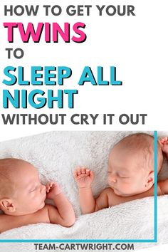 Sleep training twins sounds impossible, but like everything else with raising twins, it is totally doable! Life with twins and surviving twins means you need sleep, and no tears sleep training is the answer. Get all the twin tips and twin hacks to get your twins to sleep through the night (even in the same room)! Twin life and twin goals. Twin newborns and baby twins. Sleep training methods with twins. #twintips #raisingtwins #twinsleep #sleeptraining #nocrysleeptraining Team-Cartwright.com Nursery Twins, Baby Twins, Newborn Twins, Twin Babies, Newborns, No Cry Sleep Training, Sleep Training Methods, Training Tips, Twins Schedule