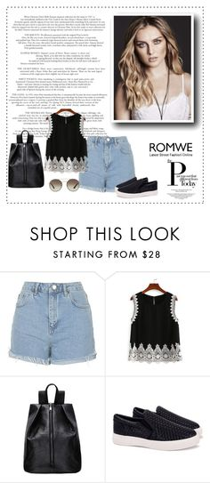 """""""Romwe 6/III"""" by nermina-okanovic ❤ liked on Polyvore featuring Topshop, Prada and romwe"""