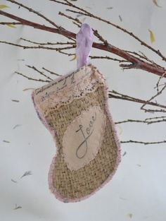 Christmas Ornament  Burlap Christmas Ornaments  by Liquidshiva, $6.50