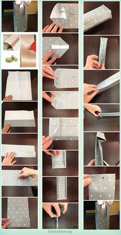 Faça Você Mesmo - Sacola de papel para presentes personalizada Molde Sacola  De Papel, Sacola 25b54bff01