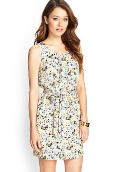 Abstract Watercolor Print Dress | FOREVER21 #F21Contemporary