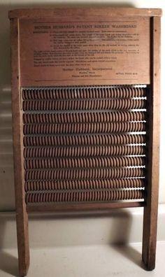 RARE Antique Mother Hubbard's Patent Roller Wooden Wash Board Mendota IL C1930s   eBay