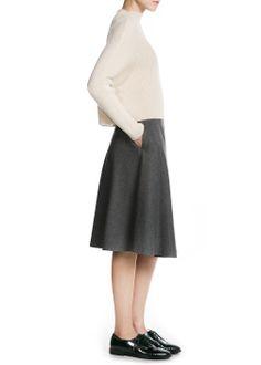 PREMIUM - Flared midi skirt