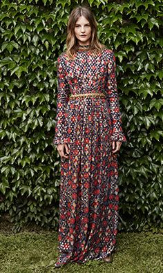 Tory Burch FALL 2014 — Look 8: Leane Gown, Simone Over-the-knee Boot