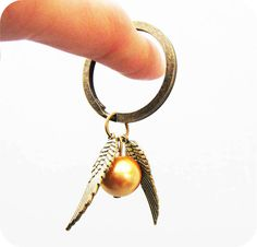 Harry Potter Enchanted Steampunk Golden Snitch Keychain. $1.99