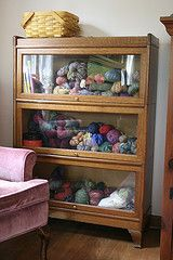 Sweet way to store your precious yarn! http://malonsshop.etsy.com