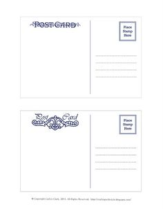 double sided postcard templates | bnute productions: digital ...