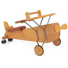 Moulin Roty Classic Wooden Ride-On Plane | AlexandAlexa