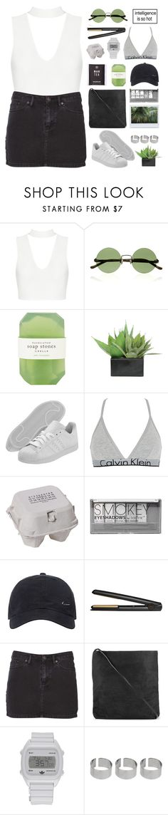 """til the end of time"" by via-m ❤ liked on Polyvore featuring The Row, Pelle, Lux-Art Silks, adidas, Calvin Klein Underwear, Maison Margiela, Boohoo, NIKE, GHD and Ksubi"