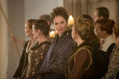 Amy Brenneman as Marie de Guise and Megan Follows as Queen Catherine on 'Reign.'