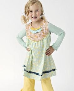 A cute dress to wear with the popcorn ruffles #matildajane