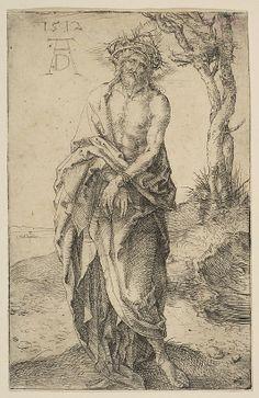 Man of Sorrows with Hands Bound Albrecht Dürer (German, Nuremberg 1471–1528 Nuremberg) Date: 1512 Medium: Drypoint