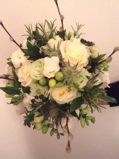 Winter wedding bridal bouquet