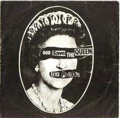 """+ The Sex Pistols +  Si tratta di un'immagine della Regina Elisabetta con occhi e bocca coperti che al tempo (era il 1977) fu un vero e proprio shock per il Paese, tanto che il singolo venne messo al bando sia dai canali radiofonici che da quelli televisivi, senza precluderne però il successo. Grazie alla scelta della giuria, la copertina aprirà il libro """"100 best record covers of all time"""", di prossima uscita nel Regno Unito"""