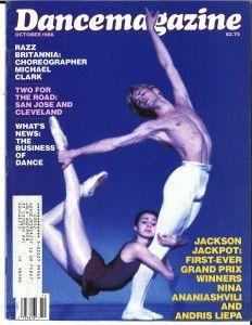 Dance Magazine cover, Oct. 1986, with Nina Ananiashvili and Andris Liepa