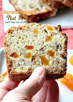 Banana Apricot Nut Bread – Can't Stay Out of the Kitchen Apricot Bread Recipe, Keto Banana Bread, B Recipe, Cinnamon Chips, Whipped Cream Cheese, Butterscotch Chips, Bread And Pastries, Dessert Bread, Artisan Bread