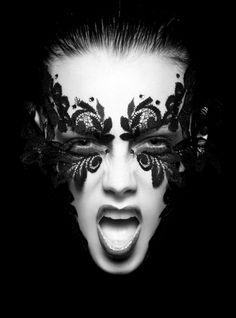 Black and white make-up