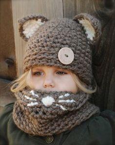 czapka, czapka dla dzieci, dziewczynka, czapka kotek