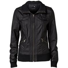 Bree Leather Bomber - Jeanswest ($145) ❤ liked on Polyvore
