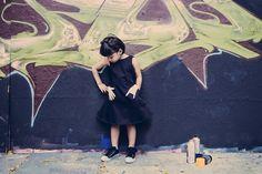 #KindermodeLabel #CAVALIER – Dora Dress – das kleine Schwarze mit der Rockerhand.