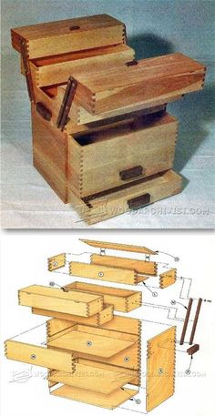 Tool Chest Plans - Workshop Solutions Projects, Tips and Tricks - Woodwork, Woodworking, Woodworking Plans, Woodworking Projects Woodworking Shop Layout, Woodworking Box, Beginner Woodworking Projects, Woodworking Workshop, Woodworking Supplies, Wooden Tool Boxes, Used Outdoor Furniture, Wood Tools, Planer