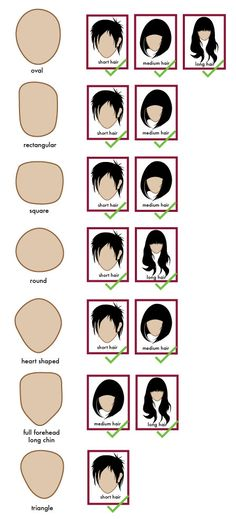 General Face shapes www.asian-hairsty… - Das schönste Make-up Face Shape Hairstyles, Diy Hairstyles, Asian Hairstyles, Round Face Haircuts, Oval Face Hairstyles Short, Japanese Hairstyles, Natural Hair Styles, Short Hair Styles, Oval Face Shapes