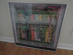 Mary White Sowell Painting Signed Framed Untitled Mixed Media Alabama Artist #Abstract