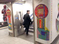 Tottenham Court Road Underground Station Mosaics – design by Eduardo Palozzi, mosaic by Gary Drostle