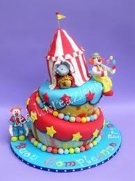 torta di compleanno circo