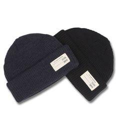 1dbdeff8b0b BRONSON Men s WW2 40s USN Navy Watch Cap Winter Warm Knit Cap Hat Casual  Beanie Caps